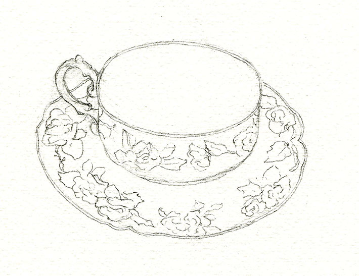710x547 Tea Party How To Draw A Teacup And Paint Details