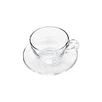 350x350 Buy Pasabahce Basic Cup And Saucer Set, 238ml, Set Of 12, Clear