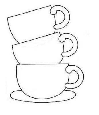 345x400 Image Result For Coffee Cups Line Art Drawings For Paintings