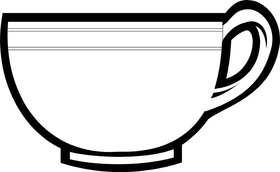 958x590 Tea Cup Clipart Line Drawing