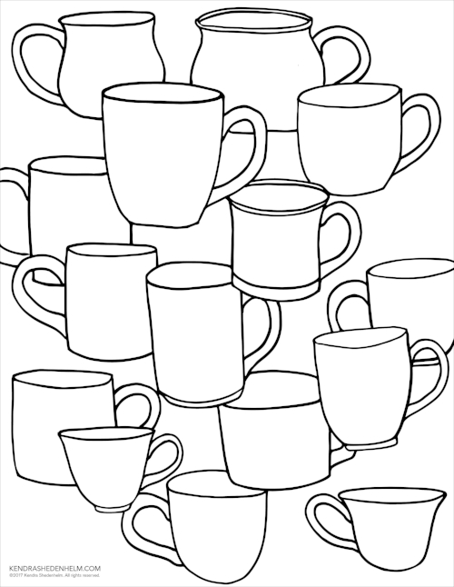 500x646 Thanksgiving, Family And A Free Coloring Page Kendra Shedenhelm