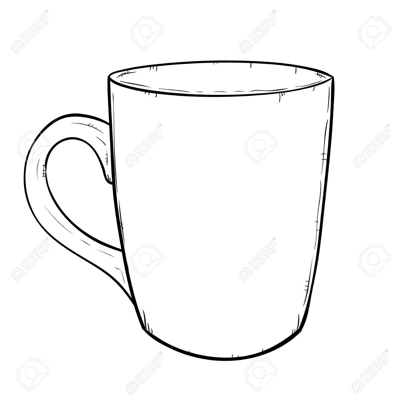 1300x1300 Vector Sketch Illustration Of Cup Royalty Free Cliparts, Vectors