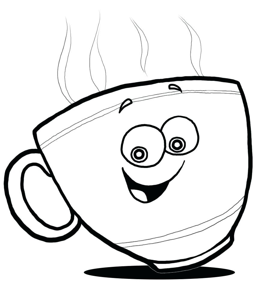 862x985 Coloring Tea Cup Coloring Page