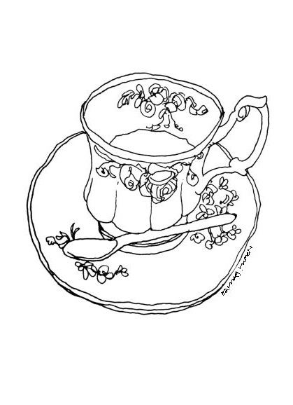 419x578 Cup Of Tea Naomi Davies Art