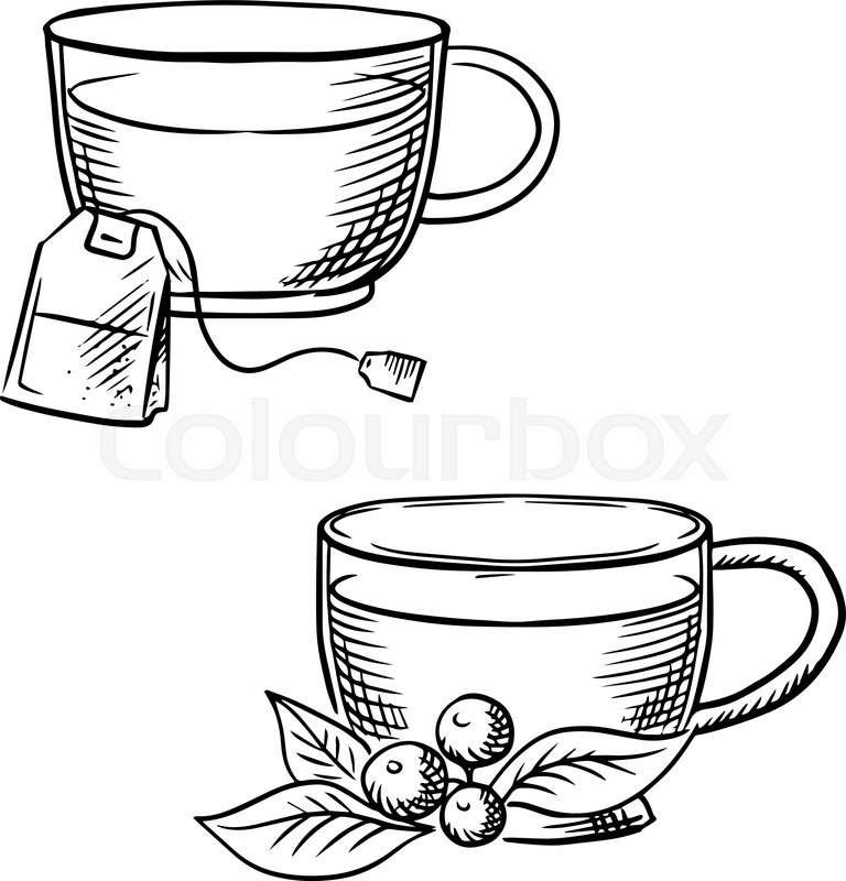 768x800 Cups Of Hot Tea With Teabag Cowberry Branch With Fruits