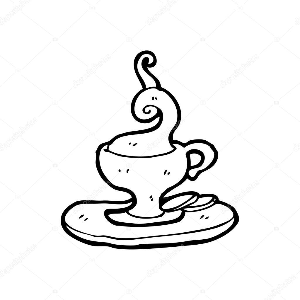 1024x1024 Hot Cup Of Tea Cartoon Stock Vector Lineartestpilot