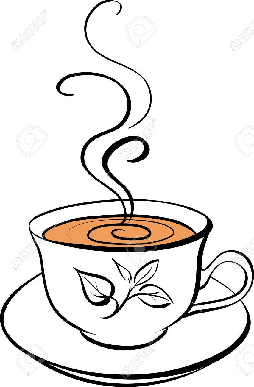 853x1300 Stylized Cup Of Tea Royalty Free Cliparts, Vectors, And Stock