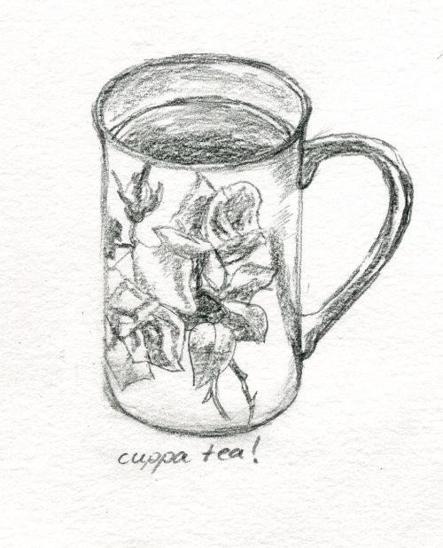 500x618 Arts Amp Stuff Sketch Of My Cup Of Tea.