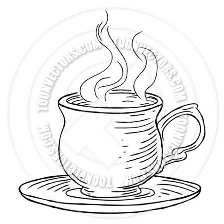 460x460 Vintage Woodcut Cup Of Tea Or Coffee By Geoimages Toon Vectors