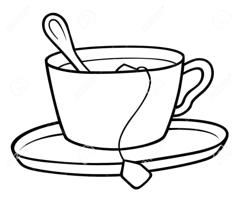 800x679 Cup Of Tea Clipart Black And White