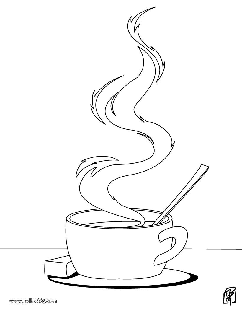 820x1060 Tea Cup Coloring Pages