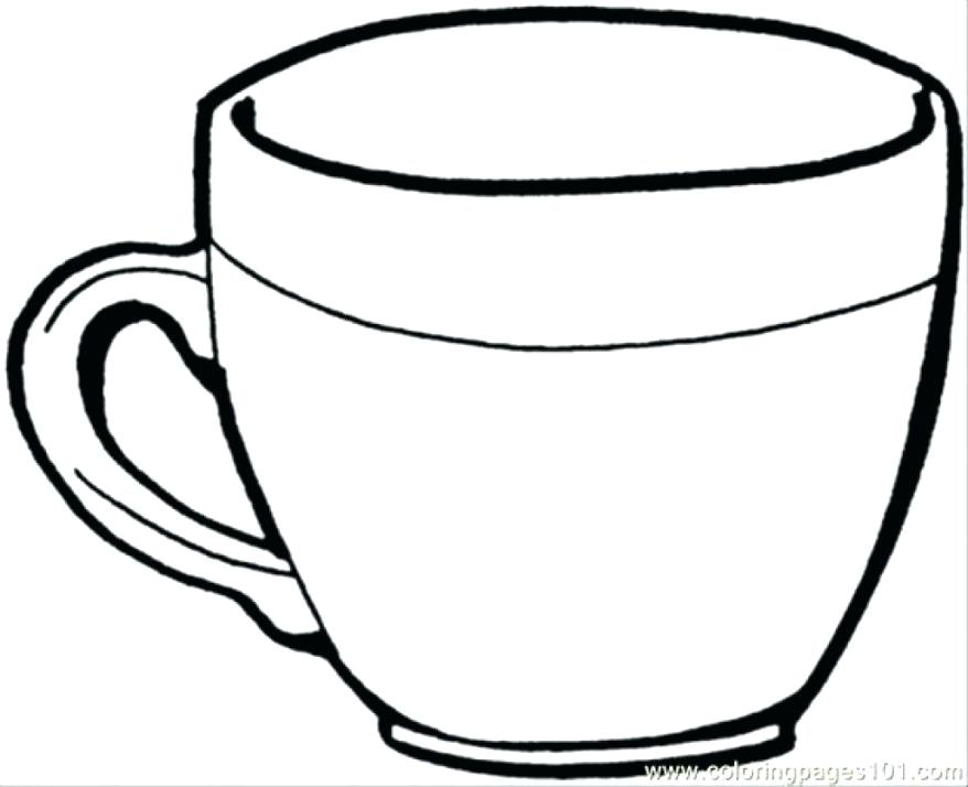 878x714 Coloring Sheets Of Cup Of Tea