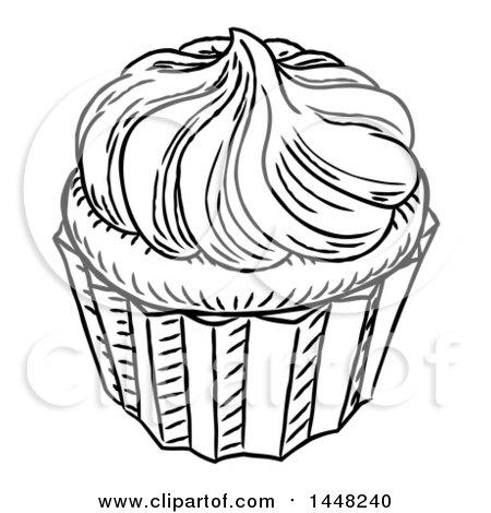 Cupcake Black And White Drawing At Getdrawings Com