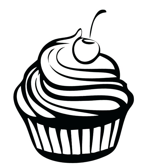 600x677 Coloring Pages Of Cupcakes Also Cartoon Cupcake Coloring Pages