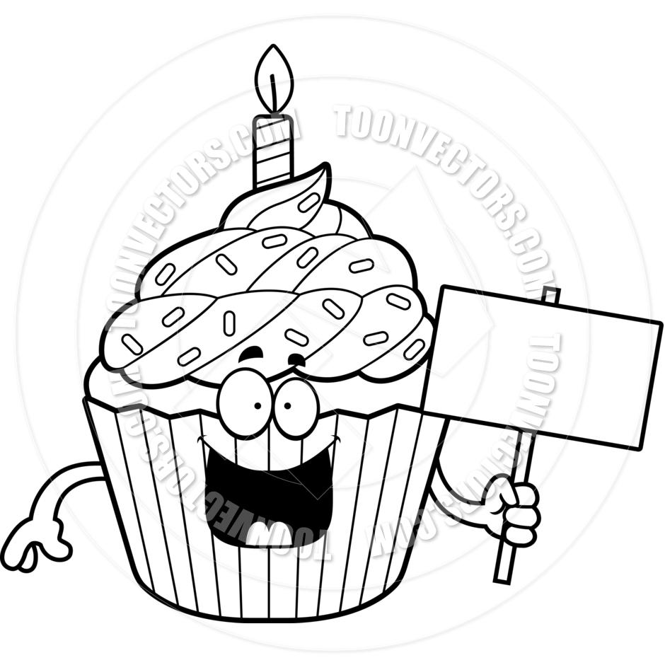 940x940 Cupcake Cartoon Drawing Cupcake Line Art Pictures To Pin