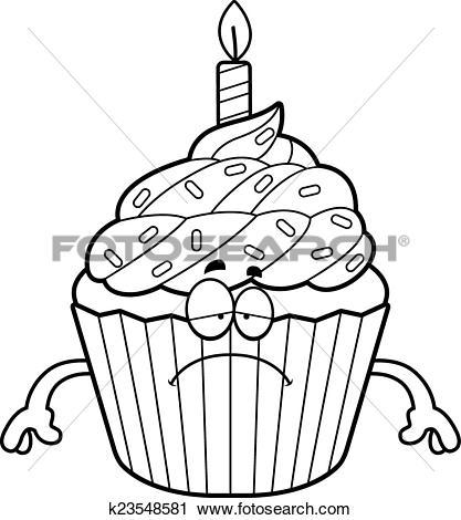 417x470 Cupcake Clipart Sad