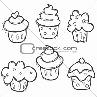 340x340 Cupcake Drawings For The Sprinkles Piece Diff Ones In Diff Colors