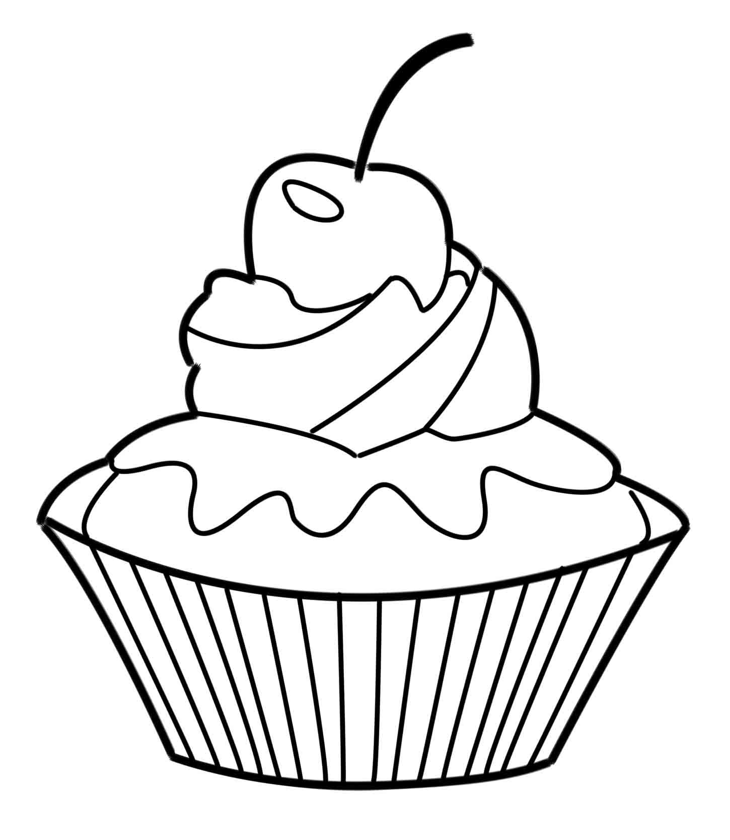 1450x1667 Fresh Cupcake Coloring Pages Advance