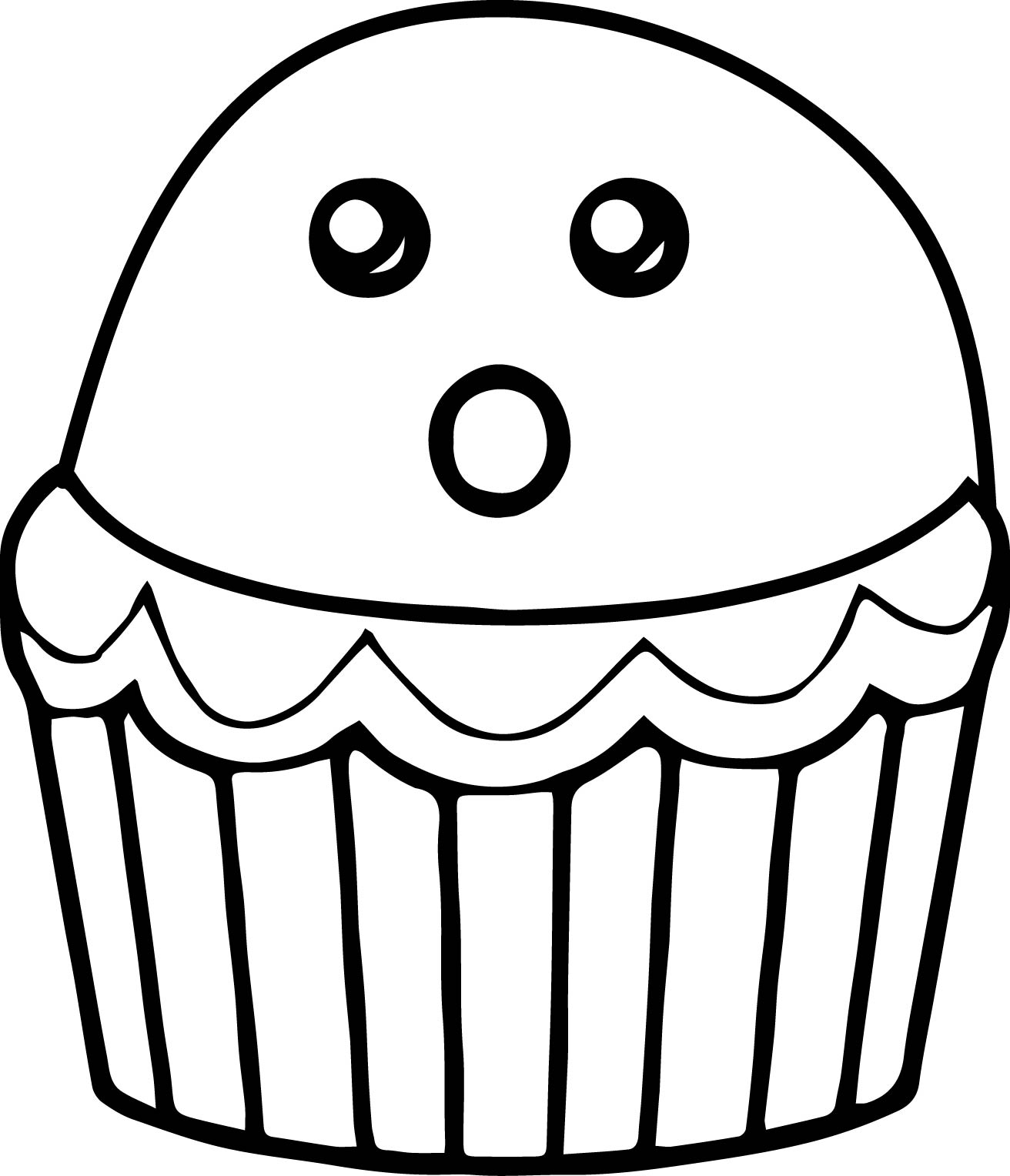 Cupcake Cartoon Drawing at GetDrawings.com | Free for personal use ...