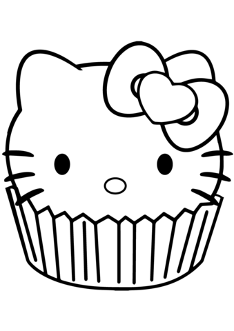 339x480 Hello Kitty Cupcake Coloring Page Free Printable Coloring Pages