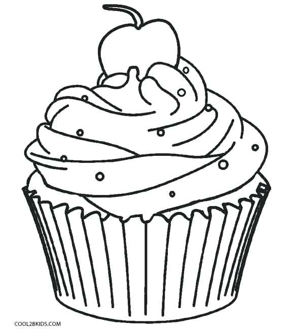 564x654 This Is Cupcake Coloring Pages Images Birthday Cupcake Coloring