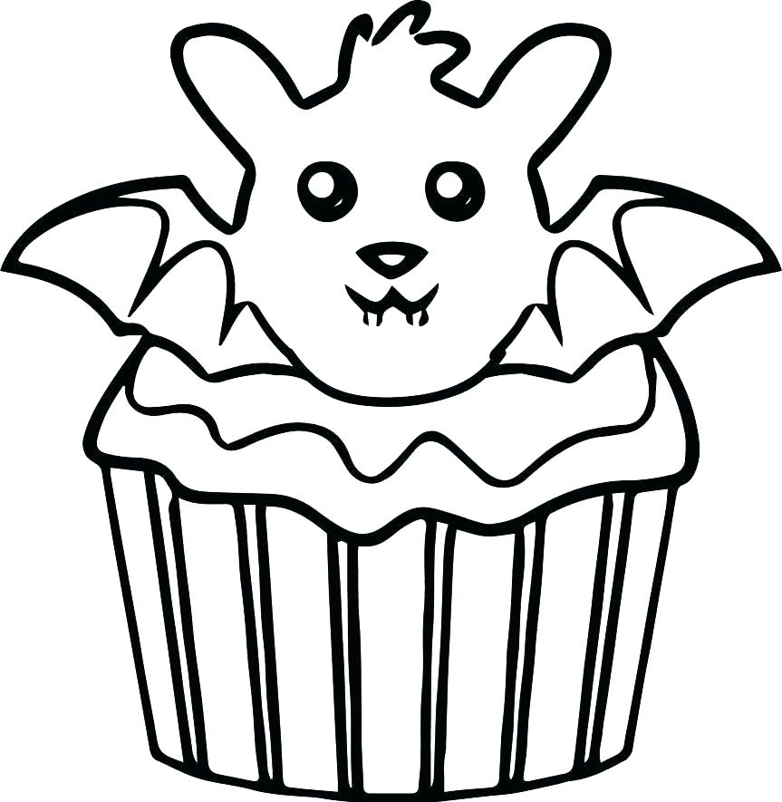 863x885 Cartoon Cupcake Coloring Pages Color Page Cup Cake L