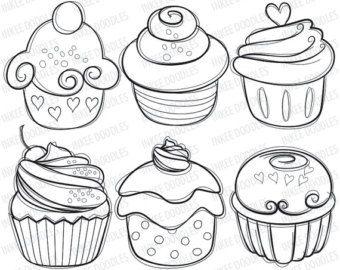 340x270 Cupcake Digital Stamps