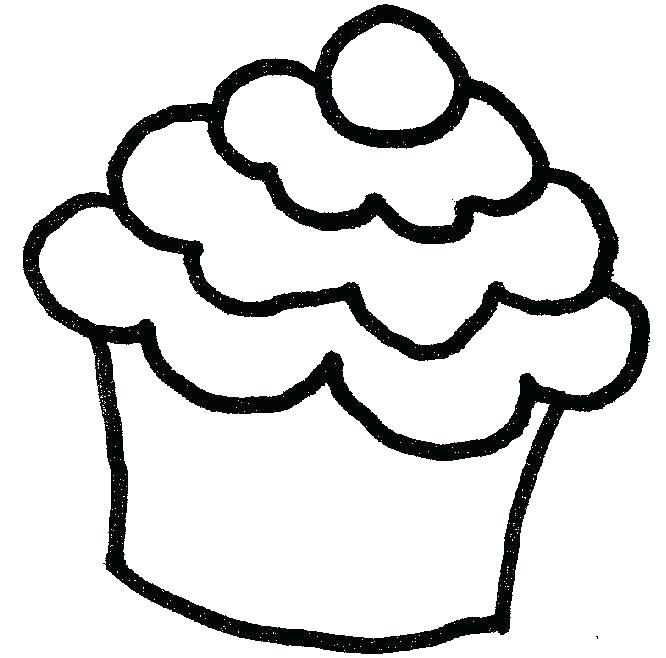 666x658 Cupcake Template To Color Original Sweet Cupcakes Drawn By Color