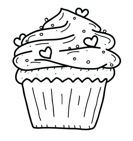 564x600 Cupcakes Coloring Cupcake Coloring Page Birthday Cupcakes Coloring