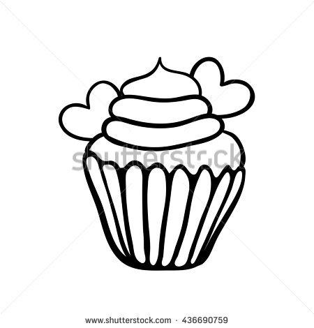 450x470 Drawn Cupcake