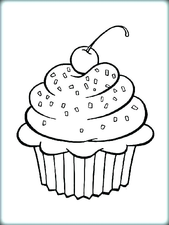541x720 Pictures Of Cupcakes To Color Pin Drawn Cupcake Printable 3