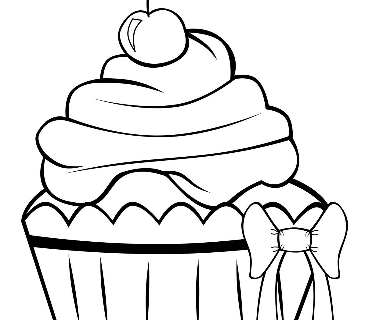 1196x1050 Beautiful Cupcake Coloring Page For Your Kids Free Printable