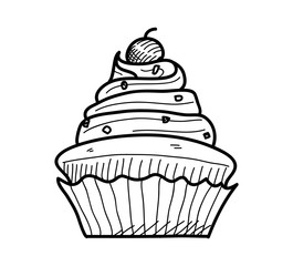 265x240 Search Photos Cupcake Drawing