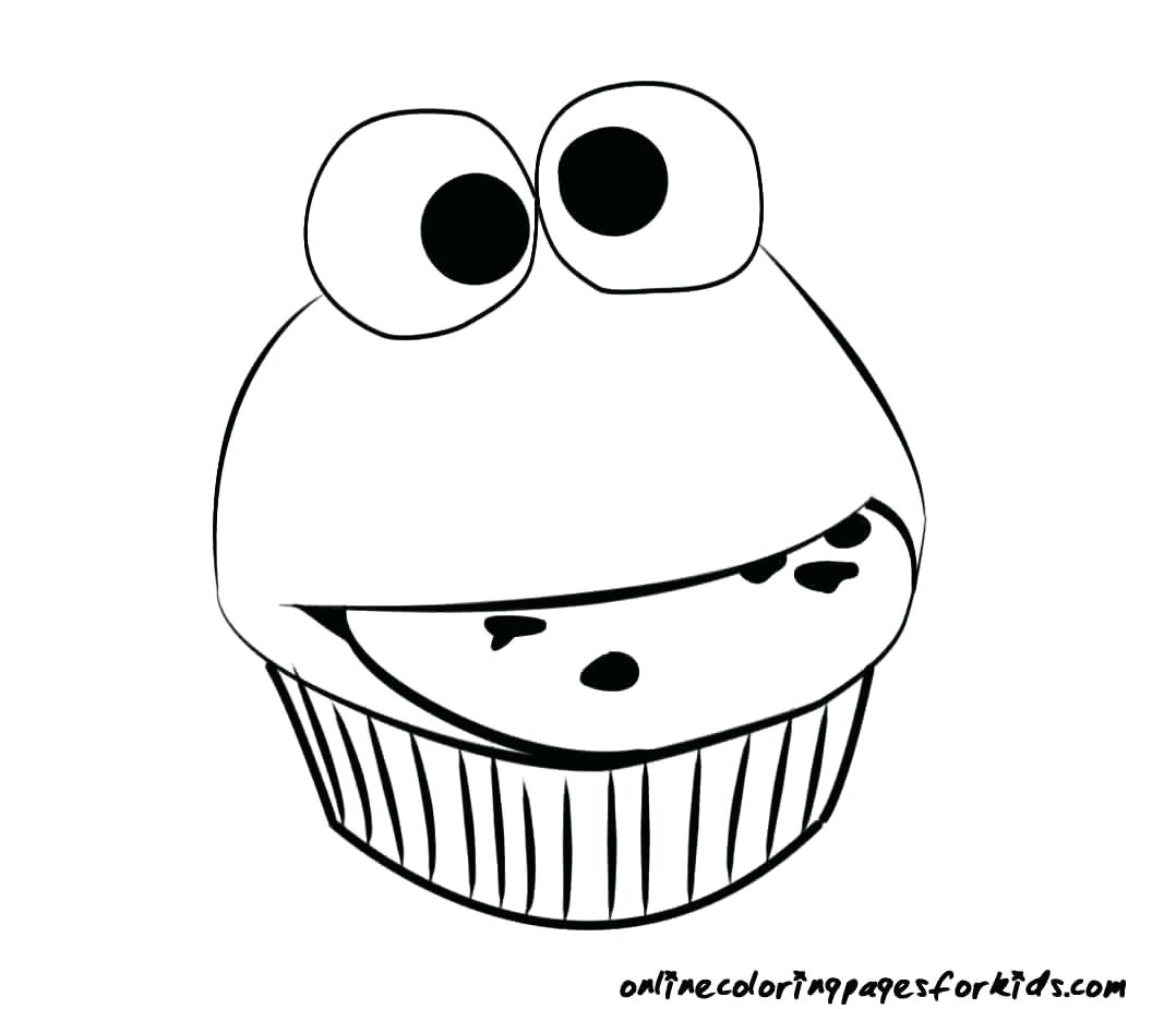 1078x925 Coloring Cupcakes Coloring Pages Drawn Cupcake Page 7 Free