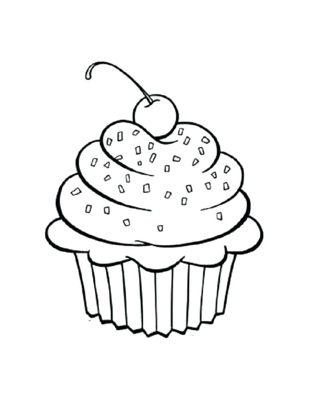 624x806 Coloring Pages Of Cakes And Cupcakes Coloring Pages Of Cupcakes