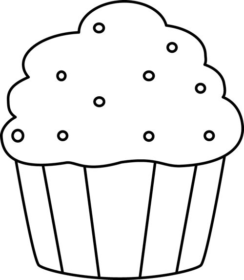 Cupcake Drawing Black And White at GetDrawings.com | Free for ...