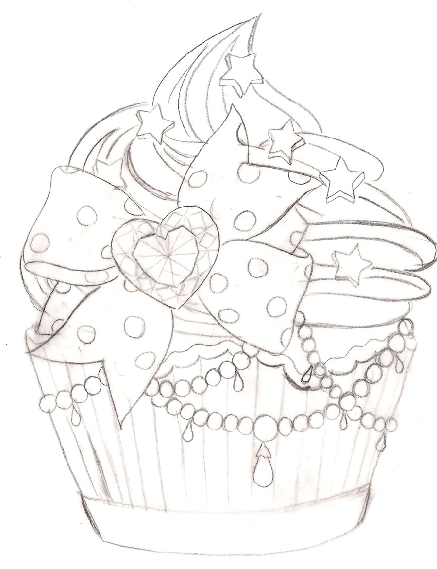 900x1171 Cupcake Tattoo 2 By ~metacharis On .i Dont Know Why But