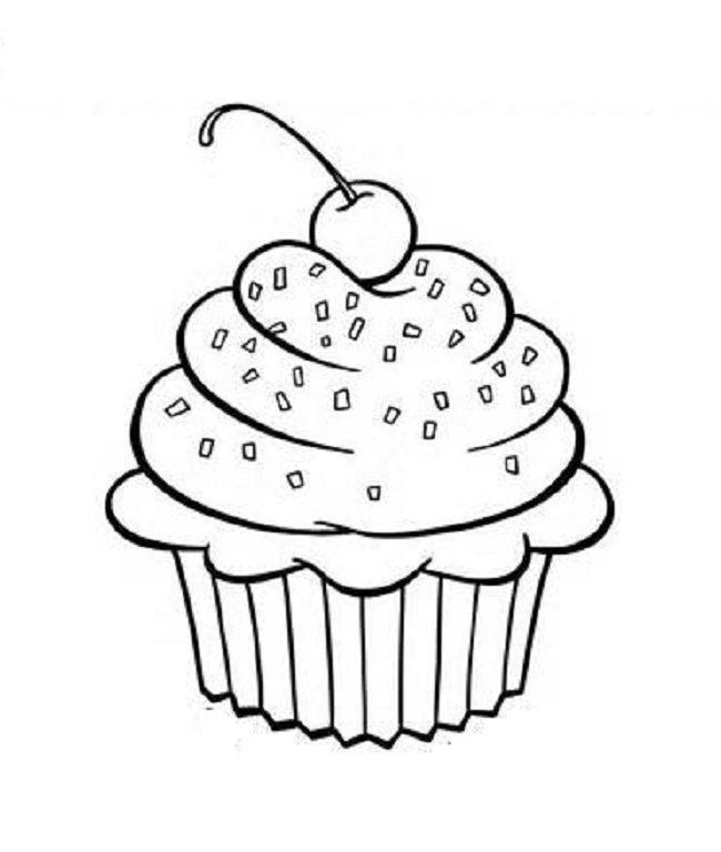 650x768 Download Cupcake Coloring Pages