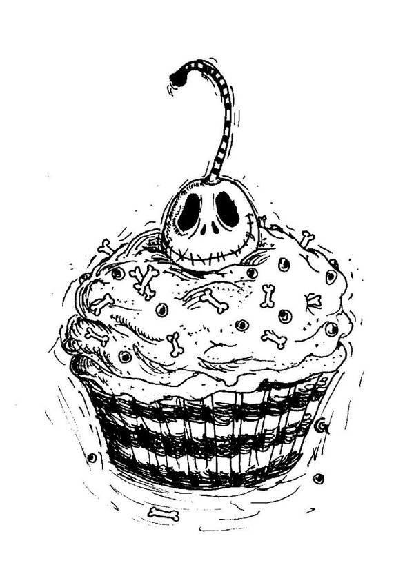 600x845 Jack Cupcake Tattoo Design By Anarch Inks So Cute! Simply Meant