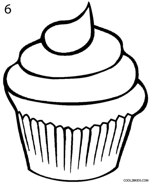 500x608 5 Best Images Of Printable Birthday Cupcake Outlines