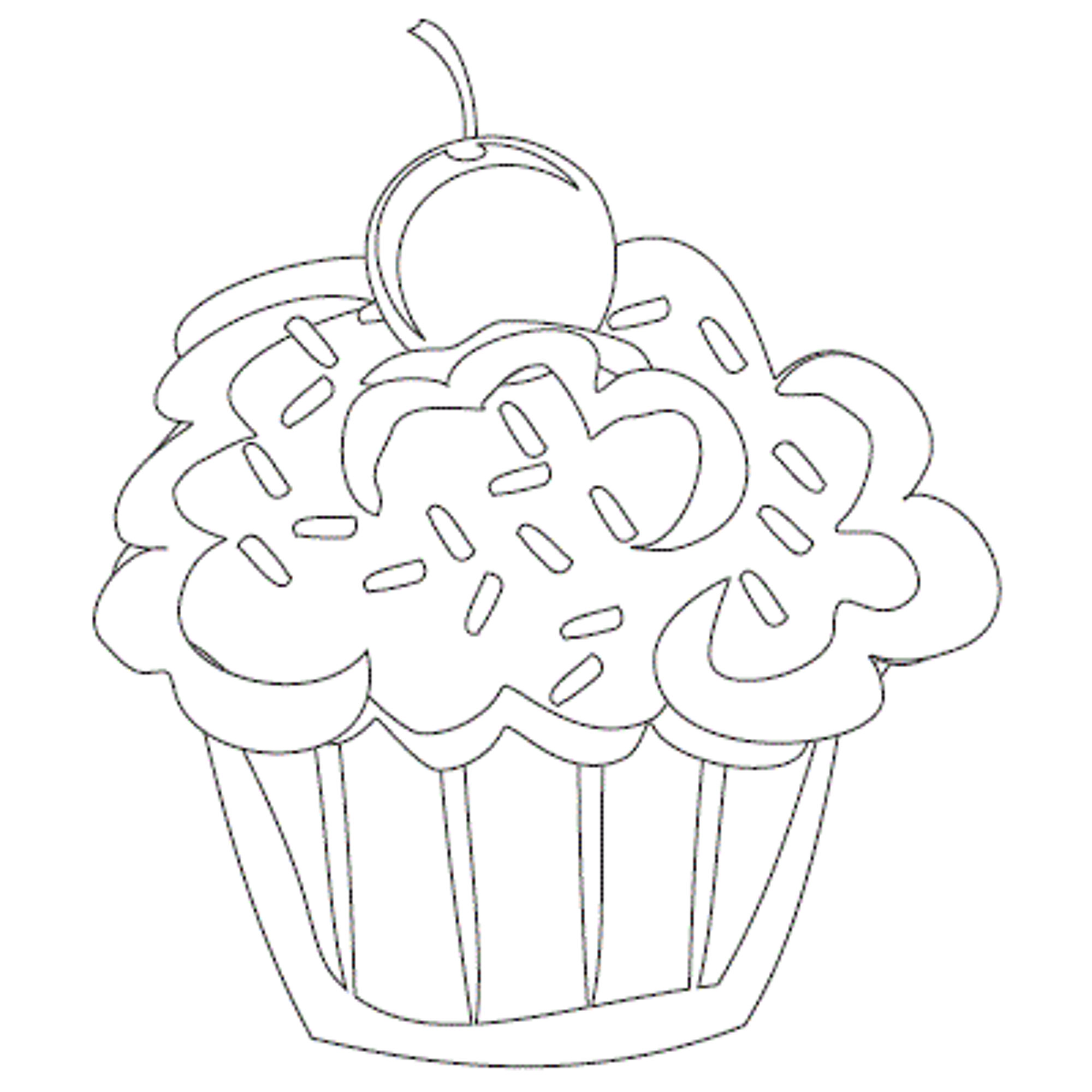 2000x2000 Cupcake Coloring Pages