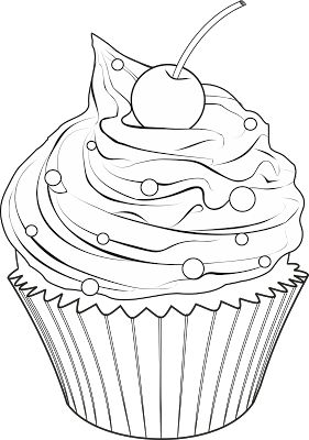 Cupcake Drawing Outline