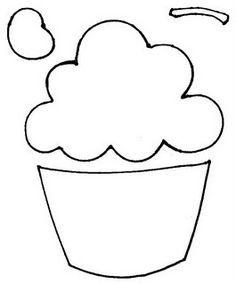 cupcake drawing outline at getdrawings com free for personal use rh getdrawings com cupcake outline clipart free Outline Cupcake Clip Art with Sprinkles
