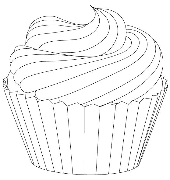 cupcake drawing outline at getdrawings com free for personal use rh getdrawings com Cute Cupcake Clip Art Birthday Cupcake Clip Art