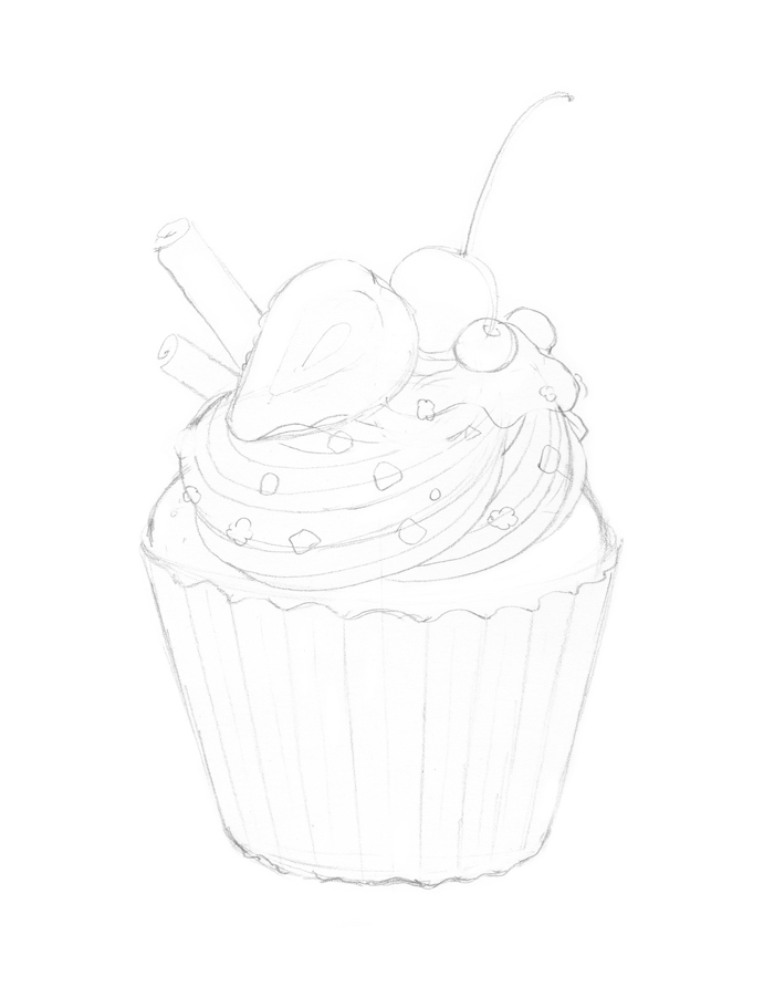 Cupcake Drawing Pictures