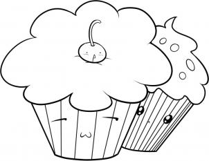 302x233 Cupcake Black And White Cupcake Drawings And Cupcakes Clipart