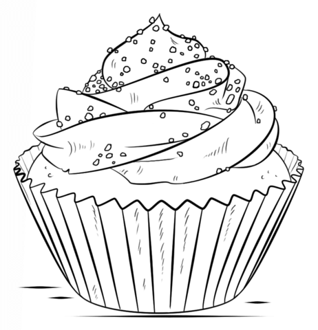 462x480 Cupcake Coloring Page Free Printable Coloring Pages