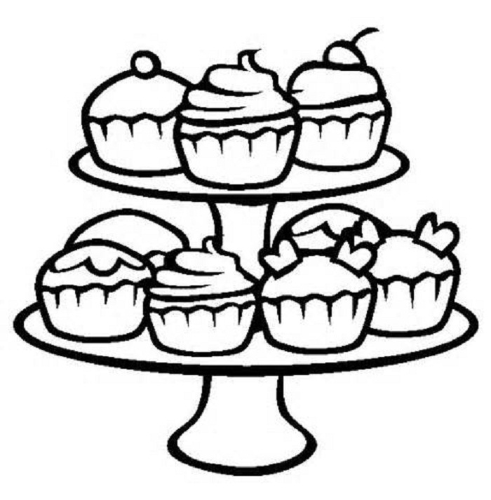 700x713 Cupcake Template To Inspirational Coloring Book
