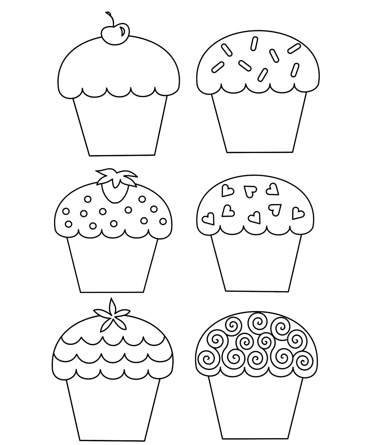 Cupcake Drawing Template at GetDrawings.com | Free for personal use ...