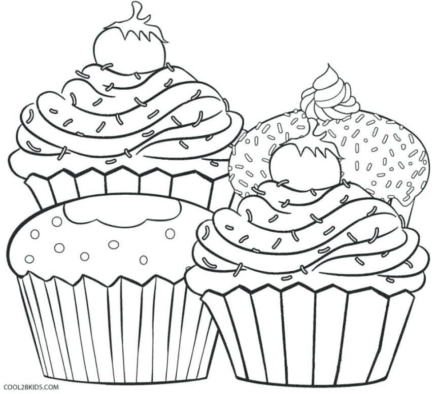 Cupcake Drawing Template At Getdrawings Com